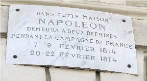plaque Napoléon